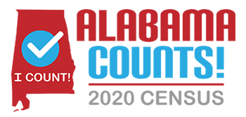 Alabama Counts 2020 logo